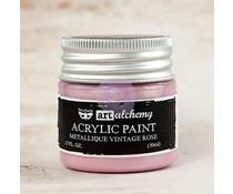 Prima Marketing Art Alchemy Acrylic Paint Metallique Vintage Rose (963200)