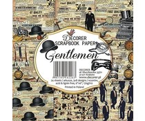 Decorer Gentlemen 6x6 Inch Paper Pack (DECOR-C23-266)