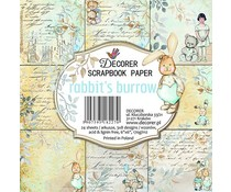 Decorer Rabbit's Burrow 6x6 Inch Paper Pack (DECOR-C24-277)