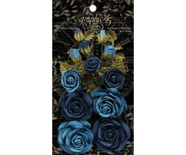 Graphic 45 Bon Voyage & French Blue Flowers (4501788)