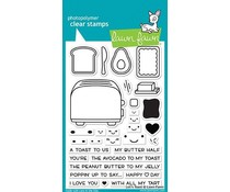 Lawn Fawn Let's Toast Clear Stamps (LF1820)