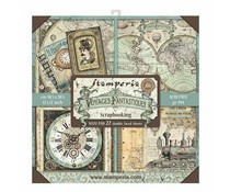 Stamperia Voyages Fantastiques 12x12 Inch Maxi Paper Pack (SBBXL01)