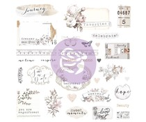 Prima Marketing Pretty Pale Ephemera & Stickers (631826)