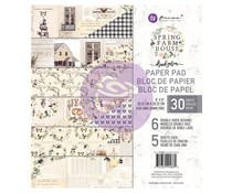 Prima Marketing Spring Farmhouse 8x8 Inch Paper Pad (994860)