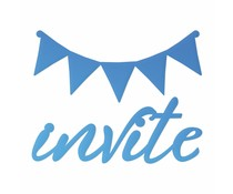 Couture Creations Invite Sentiment & Banner Mini Die (CO726090)