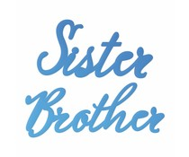 Couture Creations Sister & Brother Sentiment Mini Dies (CO726095)