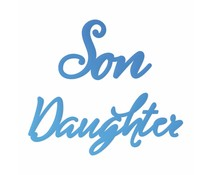 Couture Creations Daughter & Son Sentiment Mini Dies (CO726098)