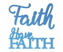 Couture Creations Have Faith Sentiment Mini Dies (CO726110)