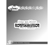 By Lene Danish Text 6 Clear Stamps (BLS1092)