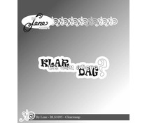 By Lene Danish Text 9 Clear Stamps (BLS1095)