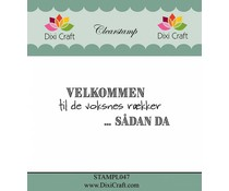 Dixi Craft Danish Text 2 Clear Stamps (STAMPL047)