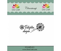 Dixi Craft Danish Text 6 Clear Stamps (STAMPL051)