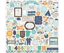 Echo Park Hello Baby Boy 12x12 Inch Element Sticker (BB172014)