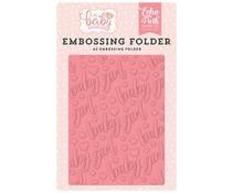 Echo Park Embossing Folder Baby Girl (OBG171031)