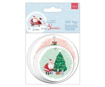 Papermania At Home with Santa Shaped Gift Tags (PMA 157982)