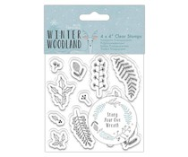 Papermania Winter Woodland Clear Stamp Wreath