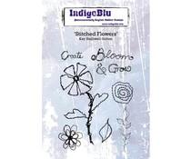 IndigoBlu Stitched Flowers A6 (IND0496)