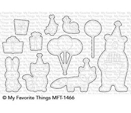 My Favorite Things Birthday Bear & Friends Die-Namics (MFT-1466)