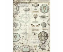 Stamperia Rice Paper A3 Voyages Fantastiques Balloon (DFSA3031)