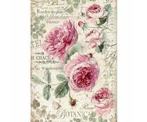 Stamperia Rice Paper A4 Botanic English Roses (DFSA4358)