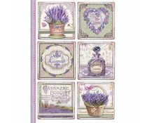 Stamperia Rice Paper A4 Provence Cards (DFSA4366)