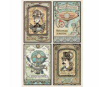 Stamperia Rice Paper A4 Voyages Fantastiques Cards (DFSA4368)