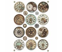 Stamperia Rice Paper A4 Voyages Fantastiques Gears (DFSA4369)