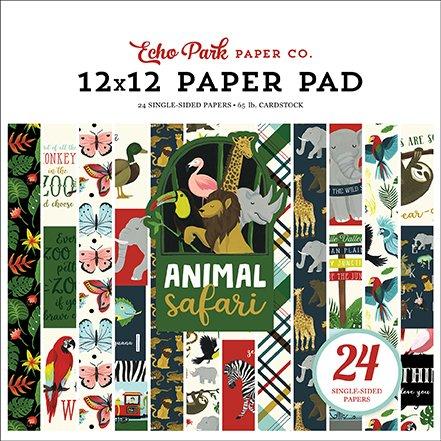 DOODLEBUG DESIGN AT THE ZOO ANIMALS SAFARI MINI CARDSTOCK 2 SCRAPBOOK STICKERS