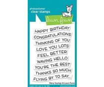 Lawn Fawn Wavy Sayings Clear Stamps (LF1899)