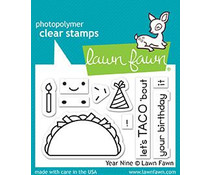 Lawn Fawn Year Nine Clear Stamps (LF1901)