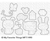 My Favorite Things Cute Critters Die-Namics (MFT-1490)