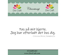 Dixi Craft Danish Text 2 Clear Stamp (STAMPL065)