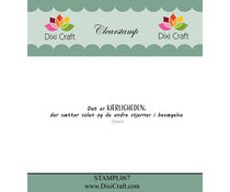 Dixi Craft Danish Text 4 Clear Stamp (STAMPL067)