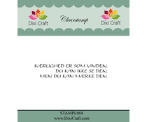 Dixi Craft Danish Text 5 Clear Stamp (STAMPL068)