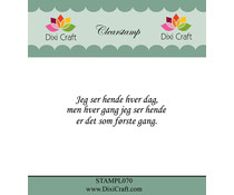 Dixi Craft Danish Text 7 Clear Stamp (STAMPL070)