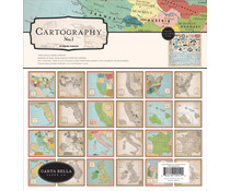 Carta Bella Cartography No.1 12x12 Inch Collection Kit (CBCA97016)