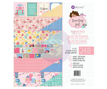 Prima Marketing Traveling Girl 12x12 Inch Paper Pad (912864)