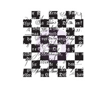 Prima Marketing Checkered Texts Clear Stamp (966959)