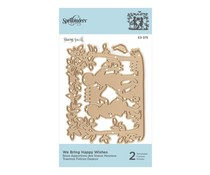 Spellbinders Shapeabilities We Bring Happy Wishes Etched Dies (S3-375)