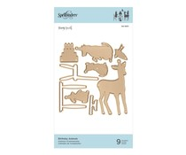 Spellbinders Shapeabilities Birthday Animals Etched Dies (S4-1001)
