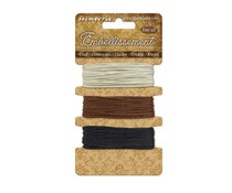 Stamperia Cord Ivory - Brown - Black 3x5m (SBA384)