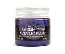 Finnabair Art Alchemy Acrylic Paint Metallique Midnight Sky (964450)