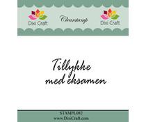 Dixi Craft Tillykke Med Eksamen Clear Stamp (STAMPL082)
