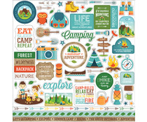 Echo Park Summer Adventure 12x12 Inch Element Sticker (SA180014)