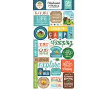 Echo Park Summer Adventure 6x13 Inch Chipboard Phrases (SA180022)