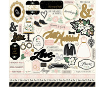 Echo Park Wedding Day 12x12 Inch Element Sticker (WD181014)