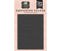 Echo Park Embossing Folder Always & Forever (WD181031)