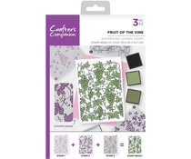 Crafter's Companion Fruit of the Vine A6 Background Layering Stamps (CC-ST-CA-BKFRU)