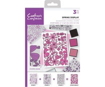 Crafter's Companion Spring Display A6 Background Layering Stamps (CC-ST-CA-BKSPR)