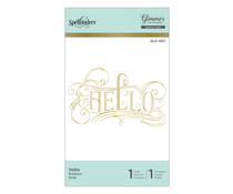 Spellbinders Hello Hot Foil Plate (GLP-083)
